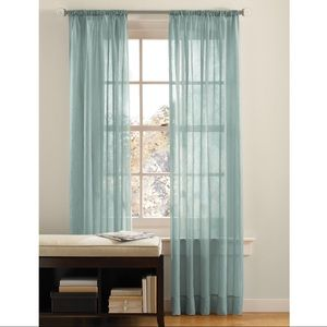 Canopy Seaglass Green Crushed Voile Sheers